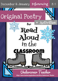 December Christmas January Winter Poetry Unit Bundle (Inferencing) {NO PREP}