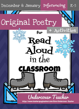 December Christmas January Winter Poetry Unit Bundle (Infe