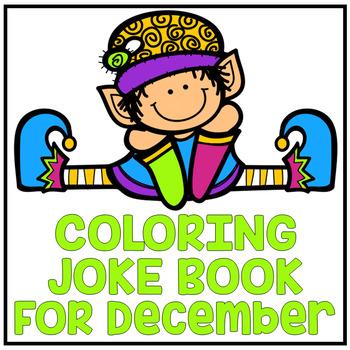 """December Christmas """"Just For Fun"""" Coloring Joke Book Printables"""