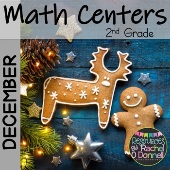 December Christmas Math Centers Second Grade