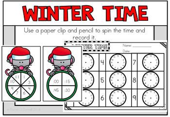 December Christmas Math Centers Second Grade