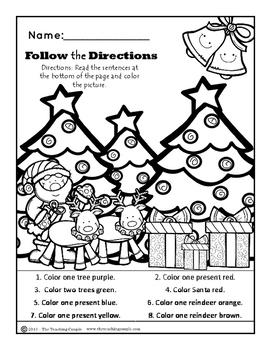 December Christmas NO PREP Kindergarten Super Pack!