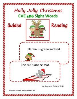 Christmas:  CVC and Sight Word Sentences  Task Cards
