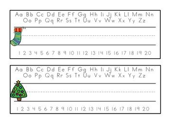 December (Christmas) Name Tags