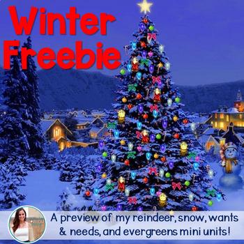 December/Christmas Non-Fiction Mini Unit FREEBIE
