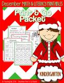 December (Christmas) PRINT and GO Packet [Kindergarten]