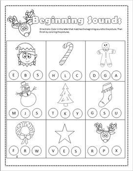 December Christmas Packet- Crafts, Math, Phonics, Reading
