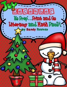 December Christmas Print and Go Printables and Games Math Literacy