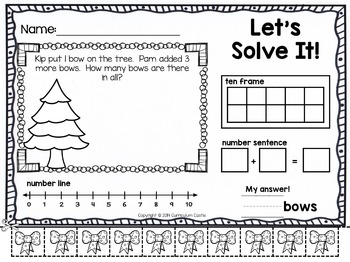December {Christmas} Ready to Go Printables for Kindergarten