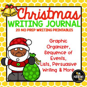 December Christmas Santa Writing Journal