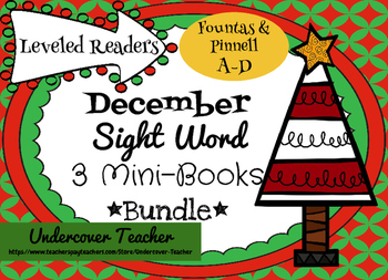 December Christmas Sight Word Leveled Mini-Books Bundle {3 Titles & 4 Levels}