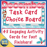 December Christmas Task Card Choice Board for Fast Finishers