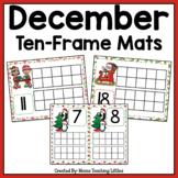 December (Christmas) Ten Frame Mats Numbers 1-20