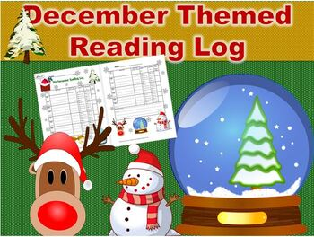 December Christmas Themed Reading Log that Reinforces Literary Elements