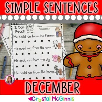December Christmas Themed (Simple Predictable Sentences for Beginning Readers)