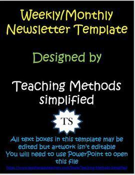 December Christmas Themed Weekly or Monthly Newsletter Template Editable