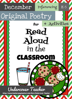 December Christmas Winter Poetry Unit & Inferencing Activi