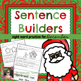 December Christmas Winter Sentence Builders {Centers, Word Work, & Daily 5}