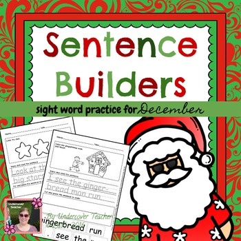 December Christmas Winter Sentence Builders {Centers, Word