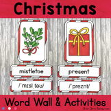 December - Christmas  - Word Wall Words and Puzzle Activit