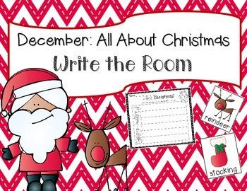 December: Christmas Write the Room + 2 Bonus Activites