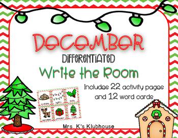 December/Christmas Write the Room