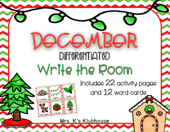 December/Christmas Write the Room