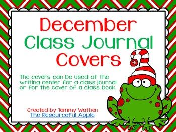 December Class Journal Covers {FREEBIE}