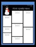 December Classroom Newsletter Template