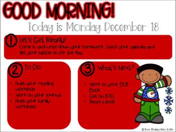 December Classroom Slides...EDITABLE
