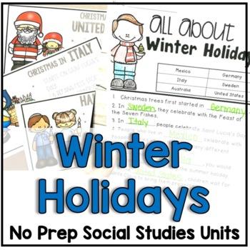 "December ""Click-and-Print"" Social Studies"