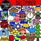 December Clipart {Creative Clips Clipart}