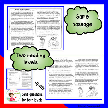 comprehension passages with questions pdf