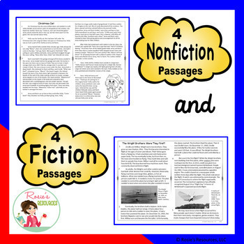 Reading Comprehension Passages and Questions - December