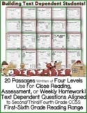 December Close Reading Passages w/ Common Core Aligned Text Dependent Questions
