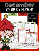 December Color By Number for 4th Grade Math