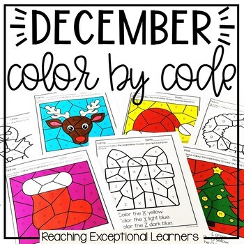 December Color by Code