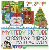December Color by Number: Math Activities (2nd, 3rd & 4th Grade)