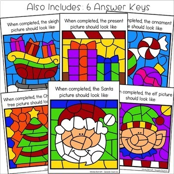 Christmas Color by Sight Words