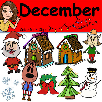 December - Colorful Clips