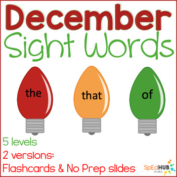 December Common Sight Words