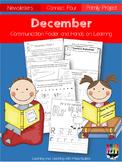 December Communication folder and Homework Packet