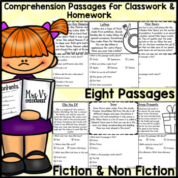 Reading Comprehension Passages & Questions: DECEMBER EDITION