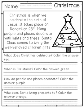 December Comprehension Passages
