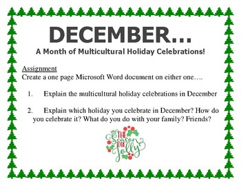 December Computer Lab Bulletin Board and Assignment