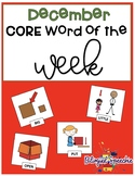 December Core Words of the Week (Spanish & English)