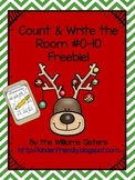 December Count and Write the Room Freebie for Numbers 0-10!