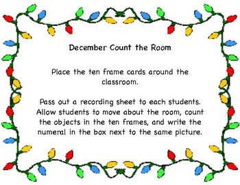 December Count the Room 1-10