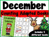 December Counting Adapted Books {set of 5 books) Print and