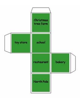 December Creative Story Writing Cubes